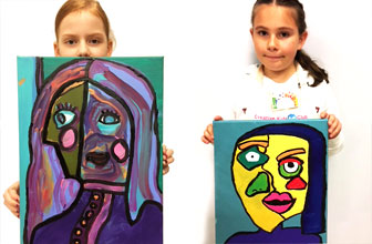 Art Club Picasso inspired portraits