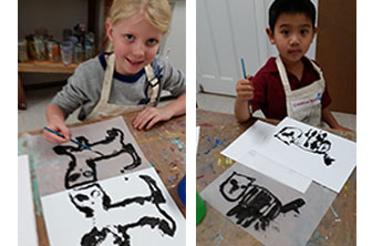 printmaking by kids
