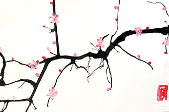 Creative Kids Art Club - Cherry Blossom drawing