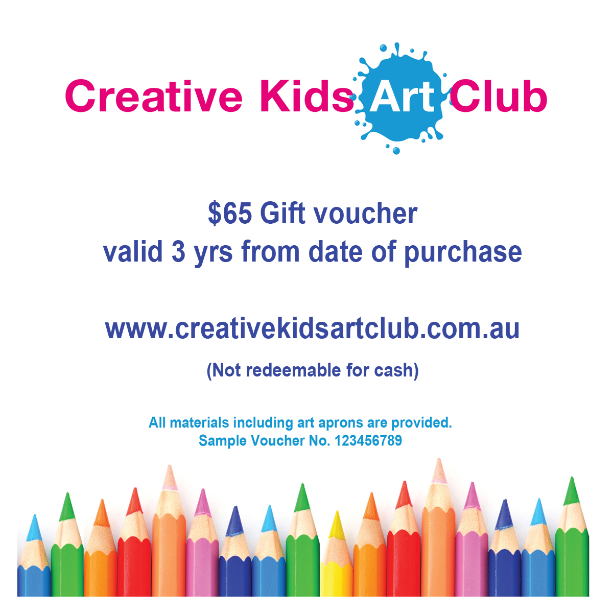 Voucher for a holiday class $65